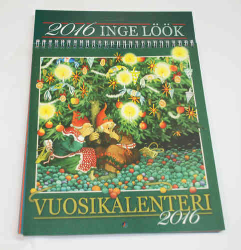 Inge Löök year calendar 2016 (Finnish text)