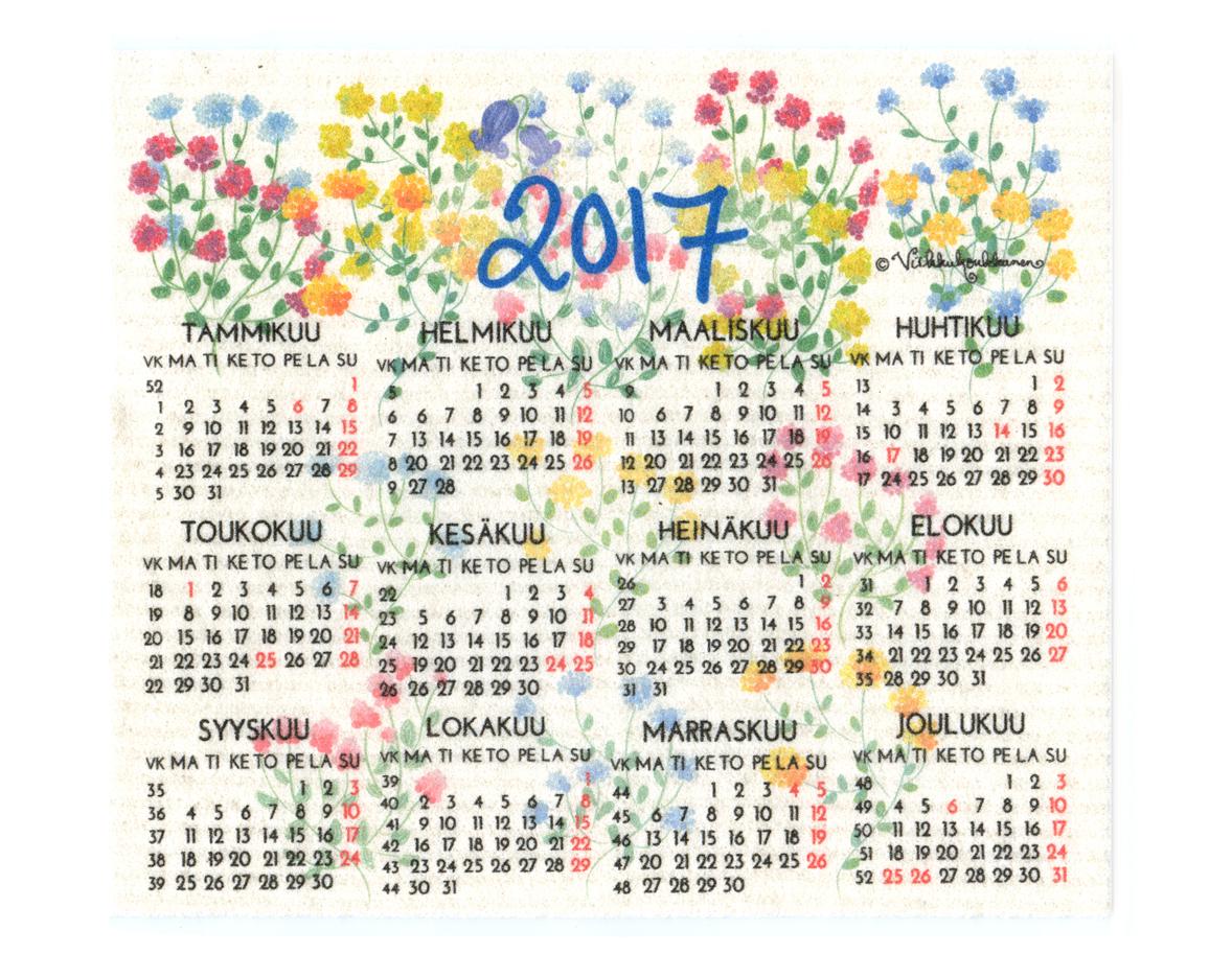 Kalenteri 2017 sieniliina