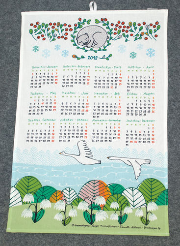 Calendar kitchen towel 2018