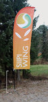 Flying banner vinge